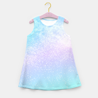 Thumbnail image of Cosmic pastel rainbow sky Girl's summer dress, Live Heroes