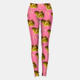 Pink wild flowers  Leggings thumbnail image