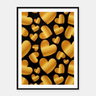 Thumbnail image of An abundance of golden hearts on black Cartel con marco, Live Heroes