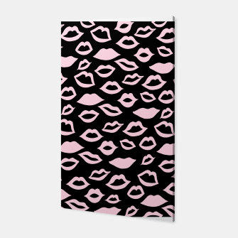 Blush Pink Lips Pattern Glam #2 #minimal #decor #art Canvas imagen en miniatura