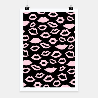 Blush Pink Lips Pattern Glam #2 #minimal #decor #art Plakat imagen en miniatura