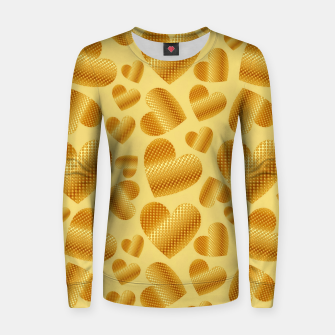 Thumbnail image of An abundance of golden hearts on beige Sudadera para mujeres, Live Heroes