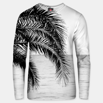 Imagen en miniatura de Palm & Ocean Dream #4 #tropical #bw #wall #decor #art  Unisex sweatshirt, Live Heroes