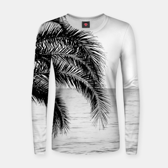 Imagen en miniatura de Palm & Ocean Dream #4 #tropical #bw #wall #decor #art  Frauen sweatshirt, Live Heroes