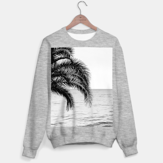 Imagen en miniatura de Palm & Ocean Dream #4 #tropical #bw #wall #decor #art  Sweatshirt regulär, Live Heroes