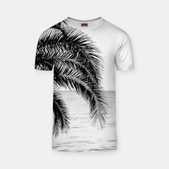 Thumbnail image of Palm & Ocean Dream #4 #tropical #bw #wall #decor #art  T-Shirt, Live Heroes