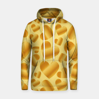 Thumbnail image of An abundance of golden hearts on beige Sudadera con capucha, Live Heroes