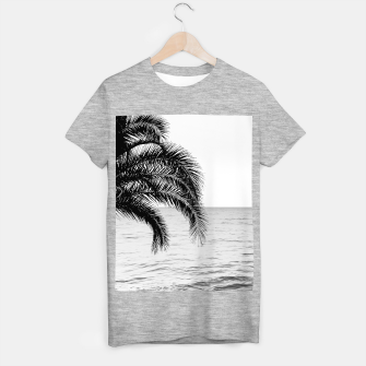 Imagen en miniatura de Palm & Ocean Dream #4 #tropical #bw #wall #decor #art  T-Shirt regulär, Live Heroes