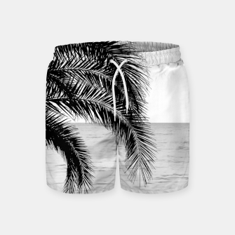 Imagen en miniatura de Palm & Ocean Dream #4 #tropical #bw #wall #decor #art  Badeshorts, Live Heroes
