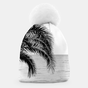 Thumbnail image of Palm & Ocean Dream #4 #tropical #bw #wall #decor #art  Mütze, Live Heroes