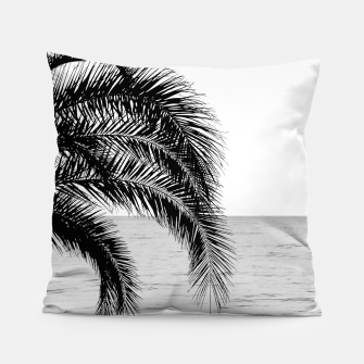 Thumbnail image of Palm & Ocean Dream #4 #tropical #bw #wall #decor #art  Kissen, Live Heroes