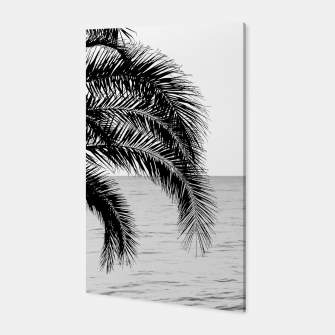 Thumbnail image of Palm & Ocean Dream #4 #tropical #bw #wall #decor #art  Canvas, Live Heroes