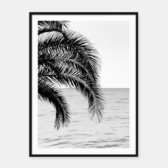 Thumbnail image of Palm & Ocean Dream #4 #tropical #bw #wall #decor #art  Plakat mit rahmen, Live Heroes