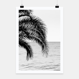 Thumbnail image of Palm & Ocean Dream #4 #tropical #bw #wall #decor #art  Plakat, Live Heroes