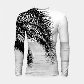 Imagen en miniatura de Palm & Ocean Dream #4 #tropical #bw #wall #decor #art  Longsleeve rashguard, Live Heroes