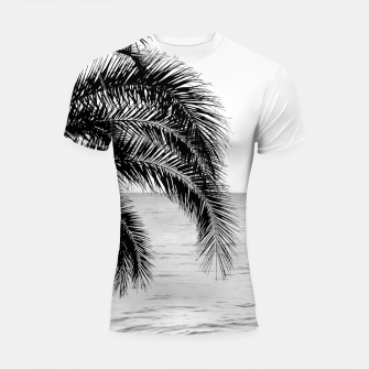 Imagen en miniatura de Palm & Ocean Dream #4 #tropical #bw #wall #decor #art  Shortsleeve rashguard, Live Heroes