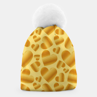 Thumbnail image of An abundance of golden hearts on beige Gorro, Live Heroes