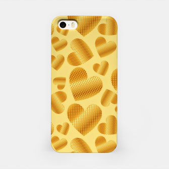 Thumbnail image of An abundance of golden hearts on beige Carcasa por Iphone, Live Heroes