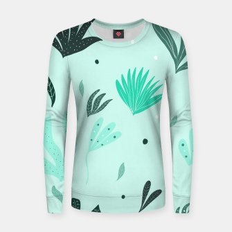 Underwater Leaves Jungle #1 #kids #decor #art  Frauen sweatshirt Bild der Miniatur
