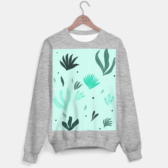 Underwater Leaves Jungle #1 #kids #decor #art  Sweatshirt regulär Bild der Miniatur