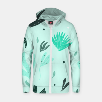 Underwater Leaves Jungle #1 #kids #decor #art  Reißverschluss kapuzenpullover Bild der Miniatur