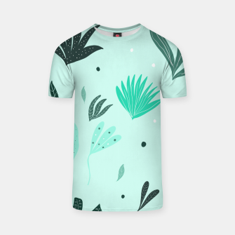 Underwater Leaves Jungle #1 #kids #decor #art  T-Shirt Bild der Miniatur