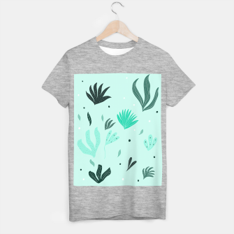 Underwater Leaves Jungle #1 #kids #decor #art  T-Shirt regulär Bild der Miniatur