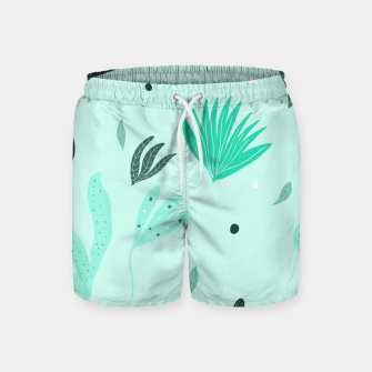 Underwater Leaves Jungle #1 #kids #decor #art  Badeshorts Bild der Miniatur