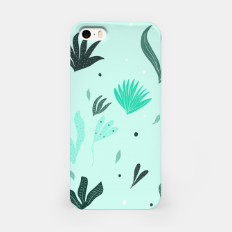 Underwater Leaves Jungle #1 #kids #decor #art  iPhone-Hülle Bild der Miniatur