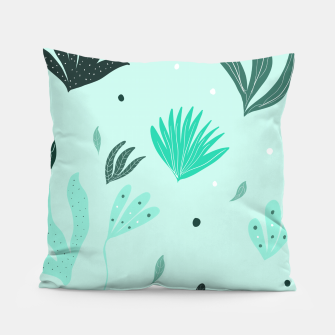 Underwater Leaves Jungle #1 #kids #decor #art  Kissen Bild der Miniatur