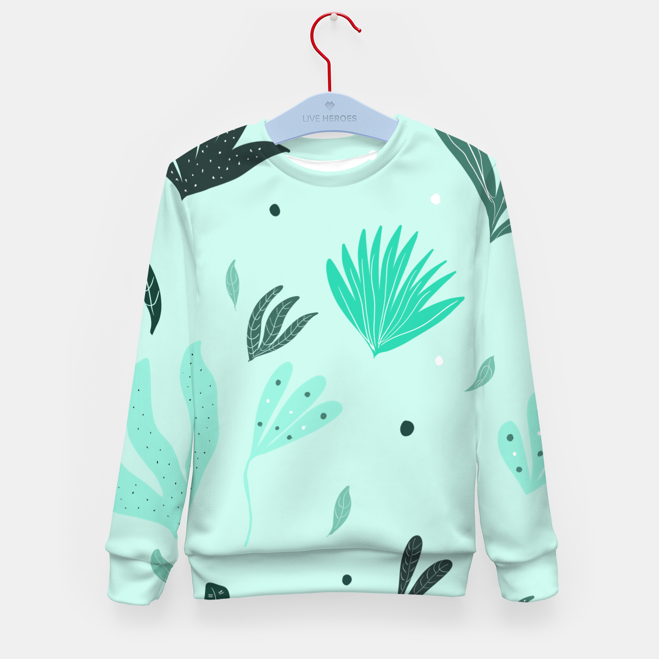 Foto Underwater Leaves Jungle #1 #kids #decor #art  Kindersweatshirt - Live Heroes