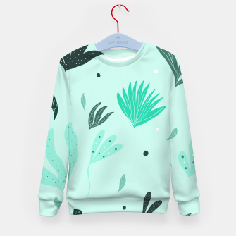 Underwater Leaves Jungle #1 #kids #decor #art  Kindersweatshirt Bild der Miniatur