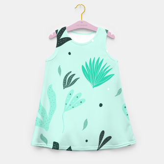 Underwater Leaves Jungle #1 #kids #decor #art  Mädchen-Sommerkleid Bild der Miniatur