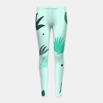 Underwater Leaves Jungle #1 #kids #decor #art  Kinder-Leggins Bild der Miniatur