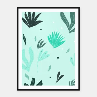 Underwater Leaves Jungle #1 #kids #decor #art  Plakat mit rahmen Bild der Miniatur