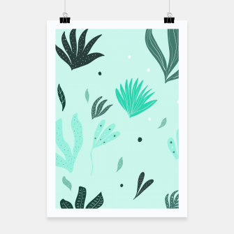 Underwater Leaves Jungle #1 #kids #decor #art  Plakat Bild der Miniatur