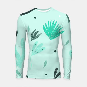 Underwater Leaves Jungle #1 #kids #decor #art  Longsleeve rashguard Bild der Miniatur