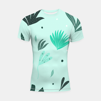 Underwater Leaves Jungle #1 #kids #decor #art  Shortsleeve rashguard Bild der Miniatur