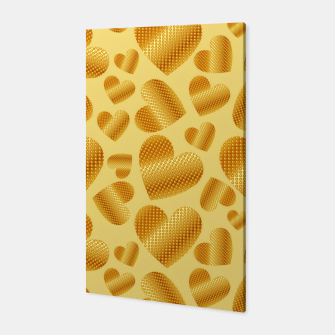 Thumbnail image of An abundance of golden hearts on beige Canvas, Live Heroes