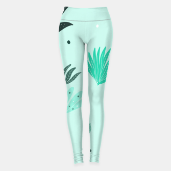 Underwater Leaves Jungle #1 #kids #decor #art  Leggings Bild der Miniatur