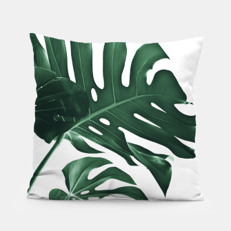 Miniatur Tropical Monstera Finesse #1 #minimal #decor #art Kissen, Live Heroes