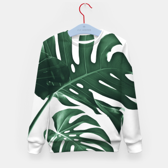 Miniatur Tropical Monstera Finesse #1 #minimal #decor #art Kindersweatshirt, Live Heroes