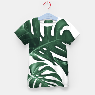 Miniatur Tropical Monstera Finesse #1 #minimal #decor #art T-Shirt für kinder, Live Heroes