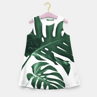Miniatur Tropical Monstera Finesse #1 #minimal #decor #art Mädchen-Sommerkleid, Live Heroes
