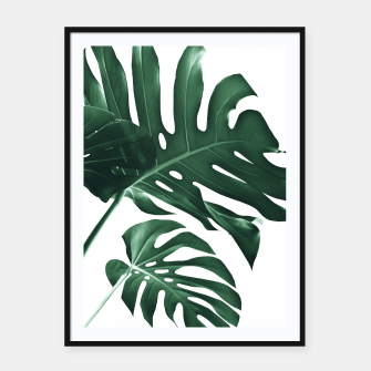 Miniatur Tropical Monstera Finesse #1 #minimal #decor #art Plakat mit rahmen, Live Heroes