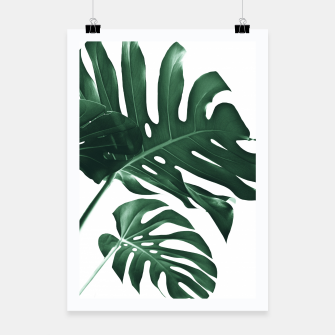 Miniatur Tropical Monstera Finesse #1 #minimal #decor #art Plakat, Live Heroes