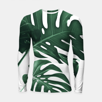 Miniatur Tropical Monstera Finesse #1 #minimal #decor #art Longsleeve rashguard, Live Heroes