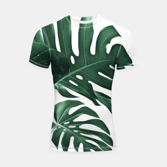 Miniatur Tropical Monstera Finesse #1 #minimal #decor #art Shortsleeve rashguard, Live Heroes