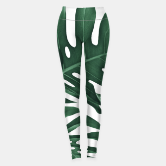 Miniatur Tropical Monstera Finesse #1 #minimal #decor #art Leggings, Live Heroes