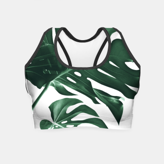 Miniatur Tropical Monstera Finesse #1 #minimal #decor #art Crop Top, Live Heroes